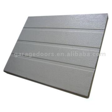 Horizontal ribbed strip garage door panel heat for 6 horizontal panel doors
