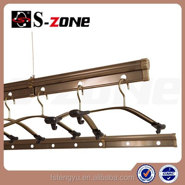 Techo balcón de aluminio ajustable estante de la ropa con Control de mano