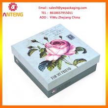 empty folding white paper folding gift box