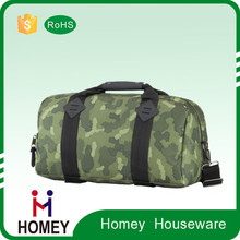 Homey Wholesale Waterproof 600D Polyester Camouflage Customized Sports Duffle Bag For Travelling