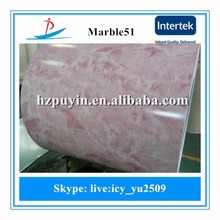 0.5mm thick sheet marble design ppgi, wood/marble/brick/Camouflage grain prepainted steel coils and sheet for roofing materials
