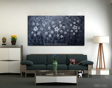 Knife painting Flower Oil Paintings on Canvas Home Decoration