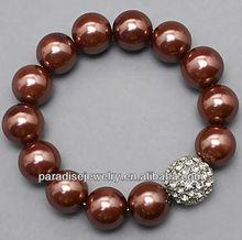 2012 Fashion cheap crystal charm beaded Bracelet-14pcs/row-B22037-8