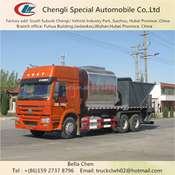336hp, 6*4, Heavy Duty HOWO Rubber Asphalt Synchronous Chip Sealer, Asphalt Paver Machine
