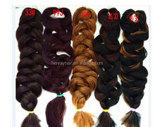 Wholesale Cheap Tangle Free X-Pression Ultra Braid Hair Weave,Two Tone Ombre Colored Synthetic Ombre Marley Hair Braid