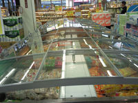 Supermarket built-in type single island diaplay freezers for sale