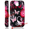 for Samsung Galaxy Ace Duos Cover, Butterfly and Flowers TPU Cover for Samsung Galaxy Ace Duos S6802