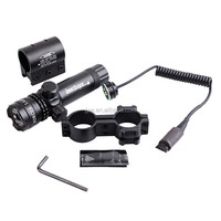 Tactical 532nm Green Laser Sight Hunting Riflle Dot Scope with On/off Swith Picatinny/weaver Mounts + rat tail