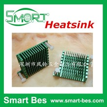 Smart Bes Green CPU radiator Straight leg with buckles can be fixed electronic radiator 37 * 12 * 37 mm aluminum heatsink
