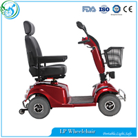 Foldable Electric Trike Mobility Scooter With Basket