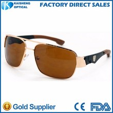 2015 fashion men sunglasses vintage with rubber temple tips