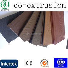 NEW product wpc co-extrusion deck for outdoor project