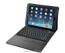 Hottest tablet accessories silicon+pu waterproof blutooth keyboard case for ipad air blutooth keyboard leather case