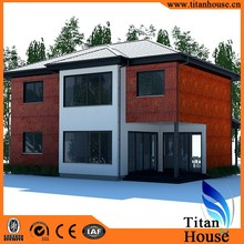 China Supplier Four Bedrooms Design Light Gauge Steel Frame Luxury Prefabricated Villa