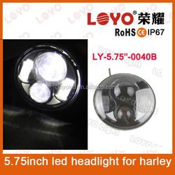 "LOYO motorcycle accessories for harley davidson headlight 40w headlight led head lamp, 5.75"" halo led headlight for harley"