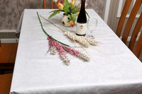 NEW DESIGN Jacquard table cover /white table cloth /table cloth wedding