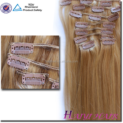 Wholesale different weight 100g 120g 160g 220g 260g 100% Full Cuticle clip in hair extension virgin malaysian
