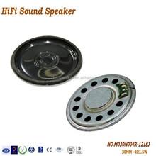Best quality 4 OHM 1.5W 28MM Mini Mylar Speaker