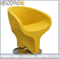 fashion design barber chair with metal footrest