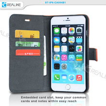 Hot selling pu leather wallet case for iphone 6, wallet cellphone case for iphone 6 4.7 inch