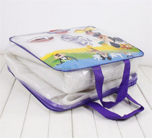 Clear PVC curtain packaging bag with zipper factory direct sale