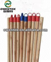 Varnished natural wooden handle stick for broom