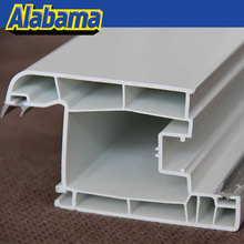 worthy investment 2 tracks sliding frame white pvc profile, pvc profile design for sliding window