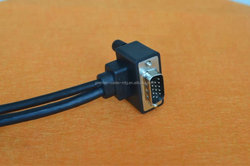 Elbow VGA cable curved line has VGA male to male cable bend elbows 1.5 m VGA signal cable