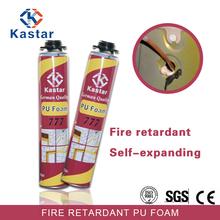 Trade assurance 500ml fire retardant pu foam for sealing crevices