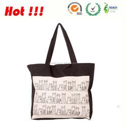 hot selling waxed plain blank canvas tote bag