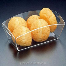 2015New item acrylic good quality plastic fruit and bread catering trays