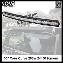 50 inch 288W 4x4 C ree Led Car Light, Curved Led Light bar Off road,auto led light arch bent