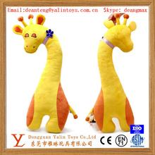 Cute Yellow 80cm Stuffed Animals Plush Giraffe sofa cushion and car cushion