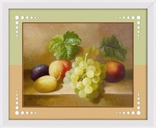 2015 CHIAN YIWU STILL LIFE GRAPE FRUIT OIL PAINTING WITH FLOWER FOR WALL DECOR