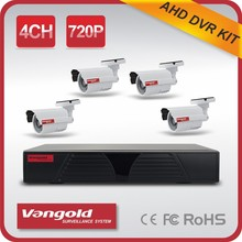 Wholesale AHD camera High Resolution DVR Kit 720P Support P2P Security Camera