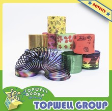 Magic slinky, Rainbow Spring, Colorful Spring, Plastic Slinky Toy With Pattern For kids.