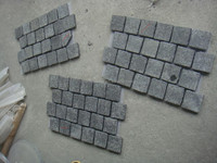 Natural Grey Granite Mesh Cobblestone Pavers