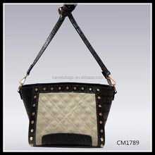 four season checkered white and black cross body bags