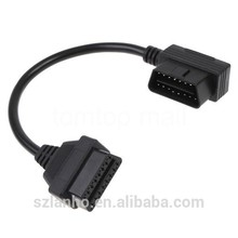 30cm OBD-II OBD2 16Pin Male to Female Extension Diagnostic Extender Cable connector
