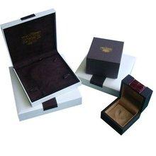 Fancy Paper Outside Plastic Inside with Velvet Jewelery Packaging Box