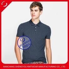 Custom made bulk high quality men's polo shirts with full printing