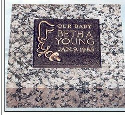 "bronze memorials :Our Baby on a 10"" x 10"" Moonlight Gray"