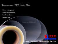 4Mil Inkjet Clear PET Film For Imagesetter Printing