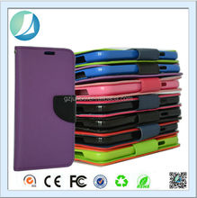 Double colors PU leather wallet case for alcatel one touch pop c7