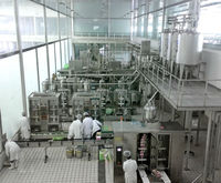 Automatic milk processing plant produce various kinds of dairy products