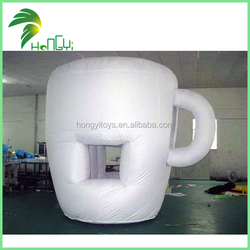 oxford cloth 3m high inflatable white model / giant inflatable coffee cup model