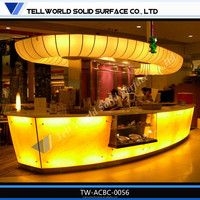 2015 Hot Sale Acrylic Solid Surface Led Portable Bar Counter,Bar Counter Plan,Half Round Bar Counter