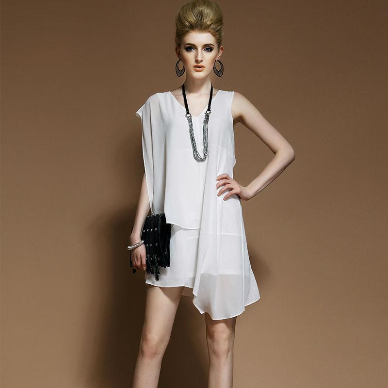 Stylish Korean Sexy Club Dress Cheap Plus Size Club Dresses White