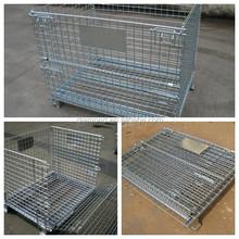 Metal Folding Storage Cage/industrial stackable wire mesh storage cage/steel storage cage/steel wire storage cage