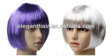 Synthetic hair bob style machine wig for halloween wholesale